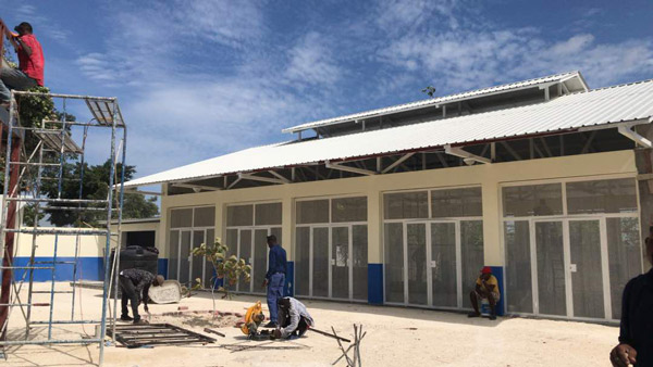 New Haiti School Courtyard