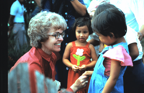 Founders of Outreach Internaitonal - Vicki Ross with children in the Philippines