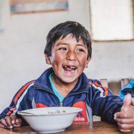 Bolivian school boy
