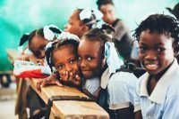 Haiti School Classroom with Students