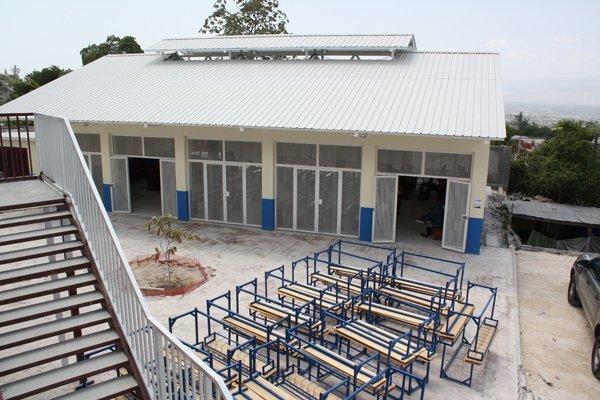 Newly constructed Haiti school