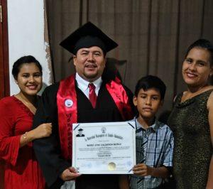 Mario, Outreach Facilitator receives law degree