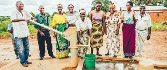 Community celebrating new water source