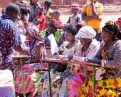 Women from DR Congo during graduation ceremonies for their first adult literacy class