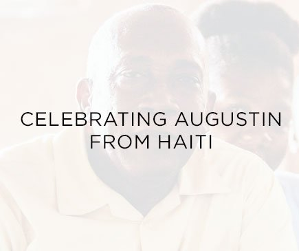 Celebrating Augustin from Haiti