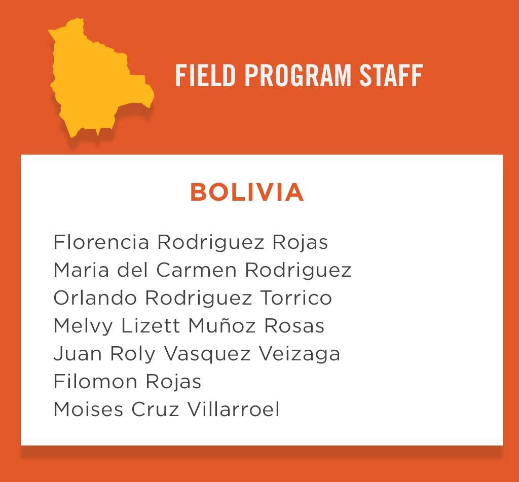 Bolivia Field Program Staff