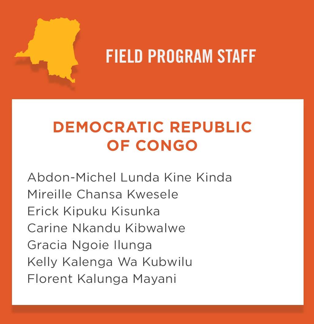 DR Congo Program Field Staff