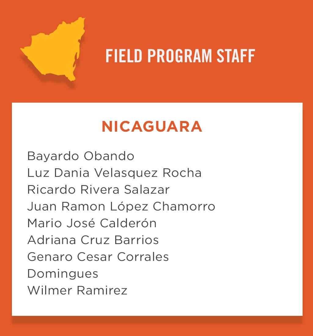 Nicaragua Field Program Staff