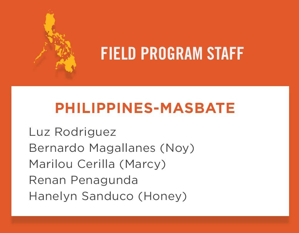 Philippines - Masbeta Field Program Staff