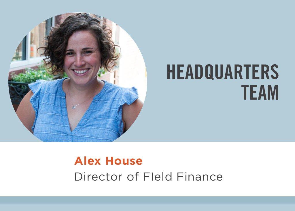 Alex House, Director of Field Finance