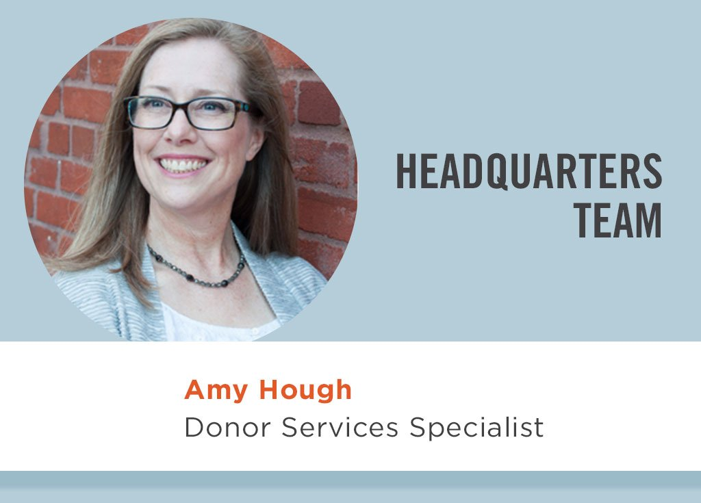 Amy Hough, Donor Services Specialist