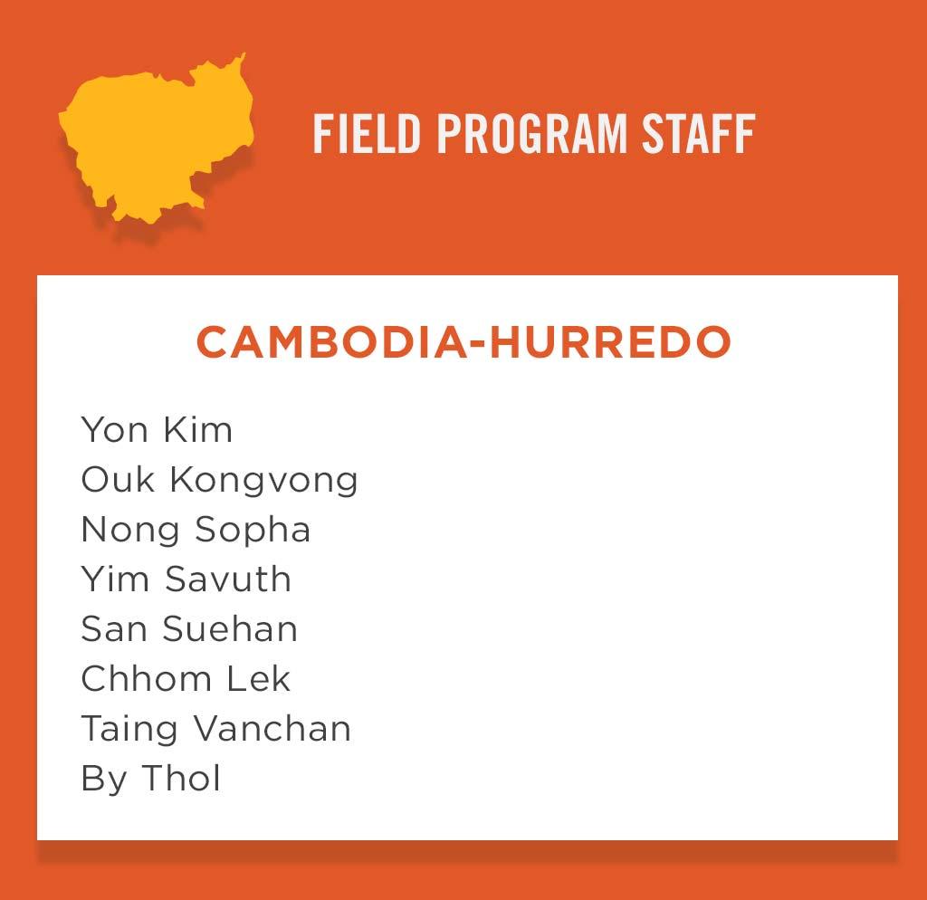 Cambidia-Hurredo Field Program Staff