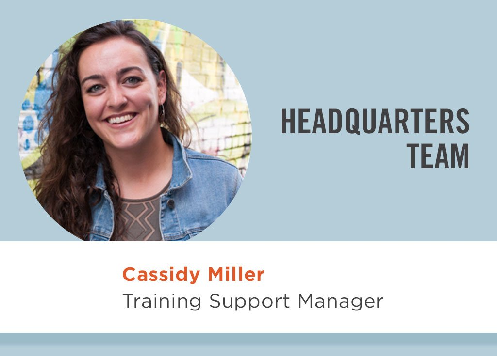 Cassidy Miller, Training Support Manager