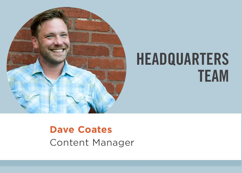 Dave Coates, Content Manager
