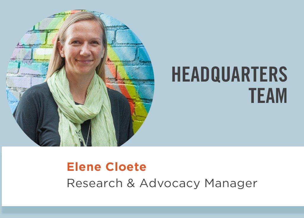 Elene Cloete, Research & Advocacy Manager