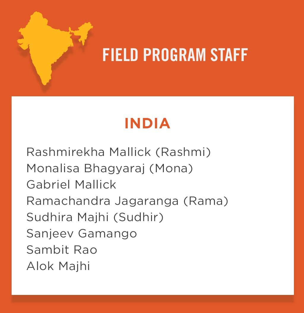 India Field Program Staff