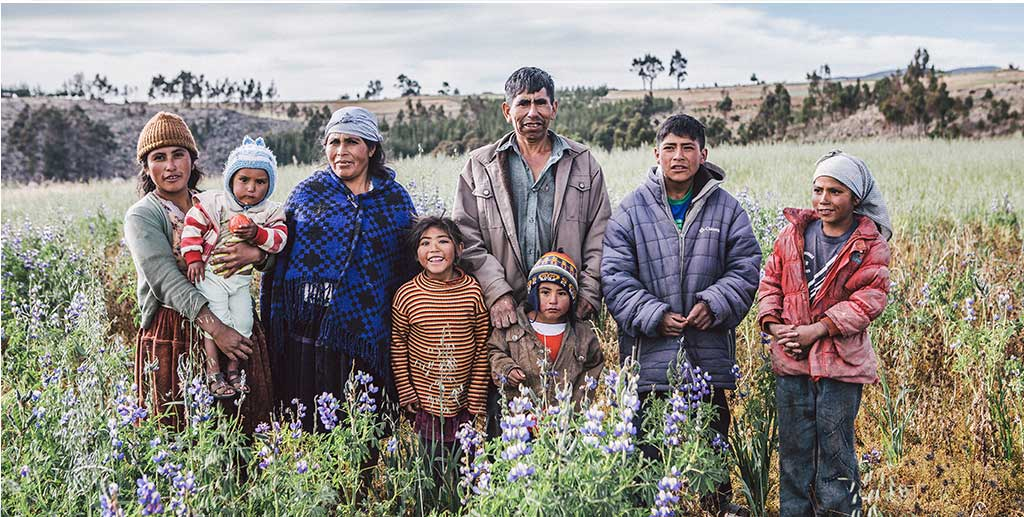 Bolivian Family in Field Program