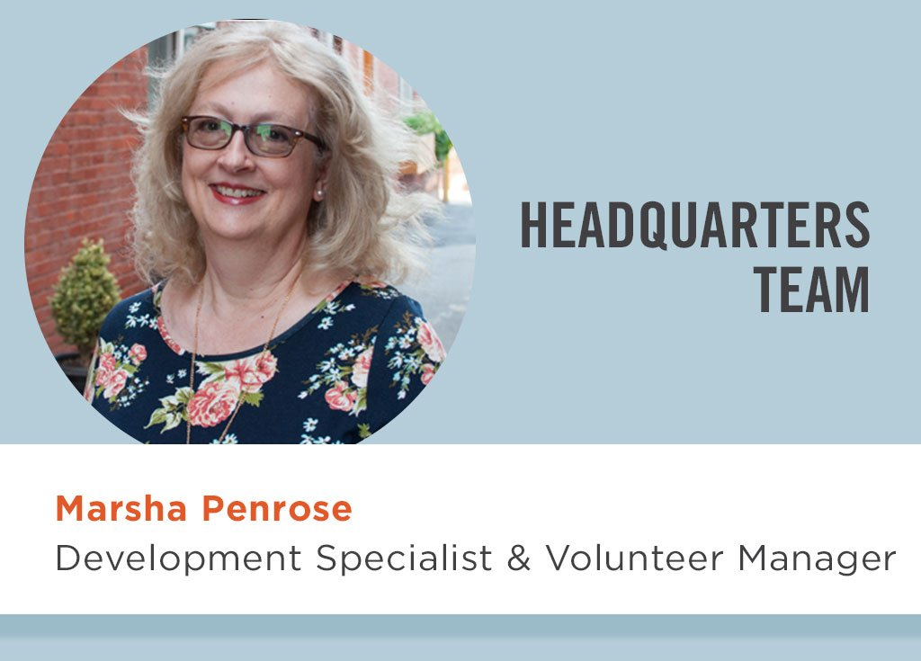 Marsha Penrose, Development Specialist & Volunteer Manager