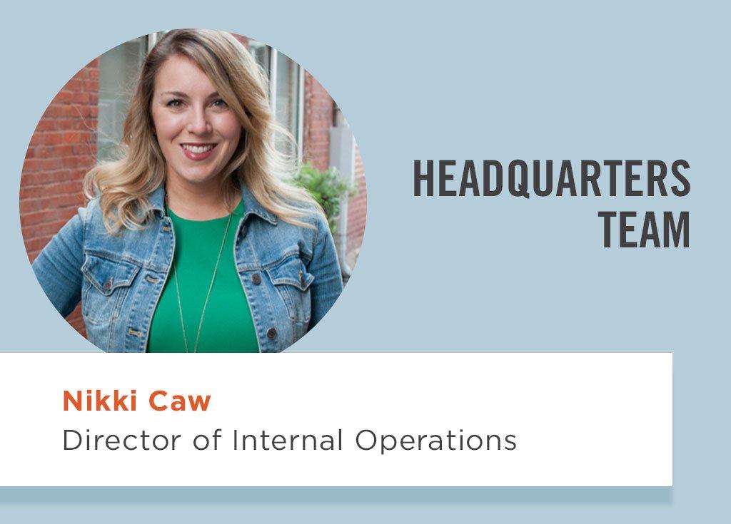 Nikki Caw, Director of Internal Operations