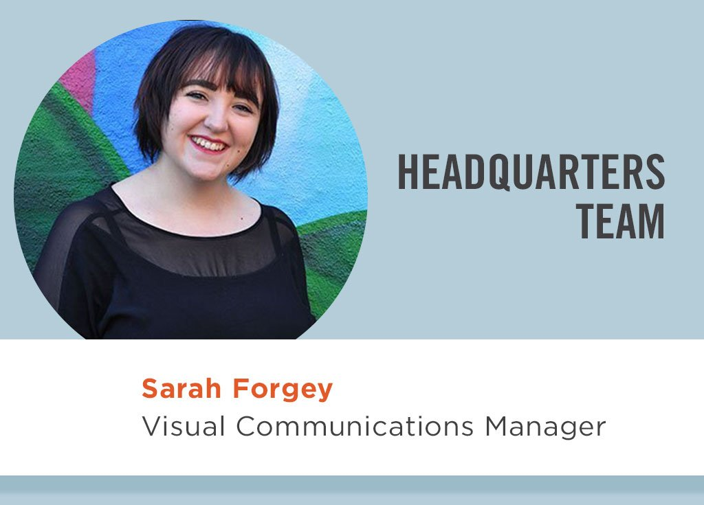Sarah Forgey, Visual Communications Manager