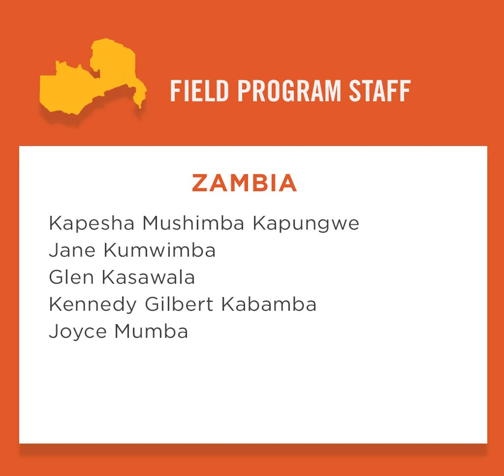 Zambia Field Program Staff