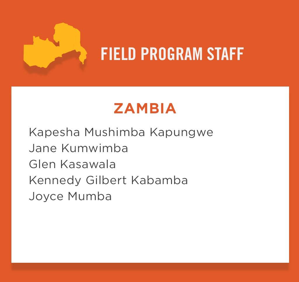 Zambia Field Program Staff