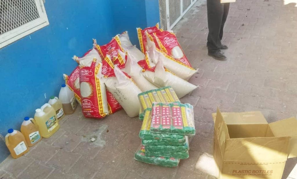 Food supplies for Outreach's Haiti Schools Feeding Program await distrubution