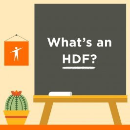 """Title slide for """"What's an HDF?"""""""