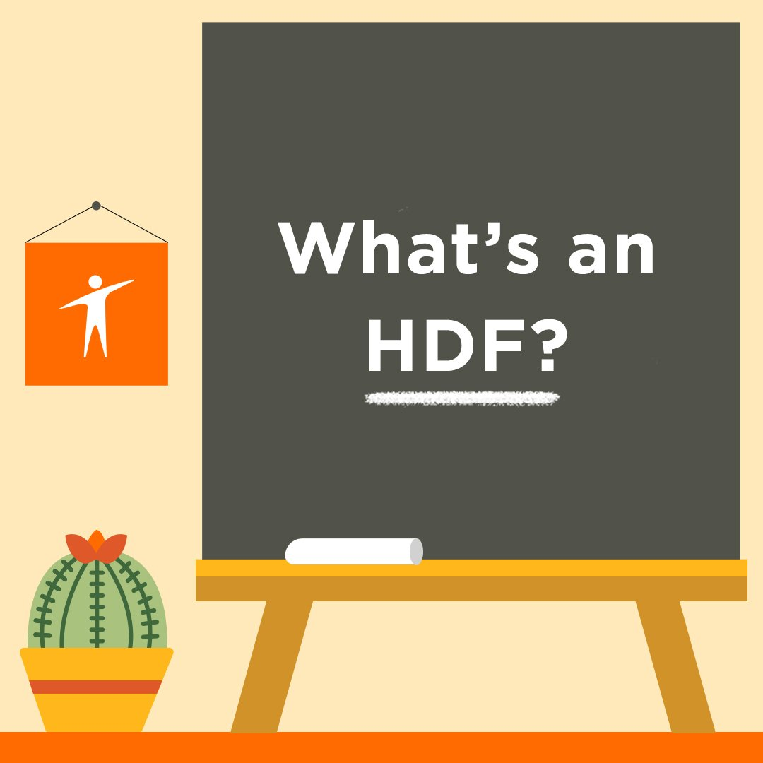 "Title slide for ""What's an HDF?"""