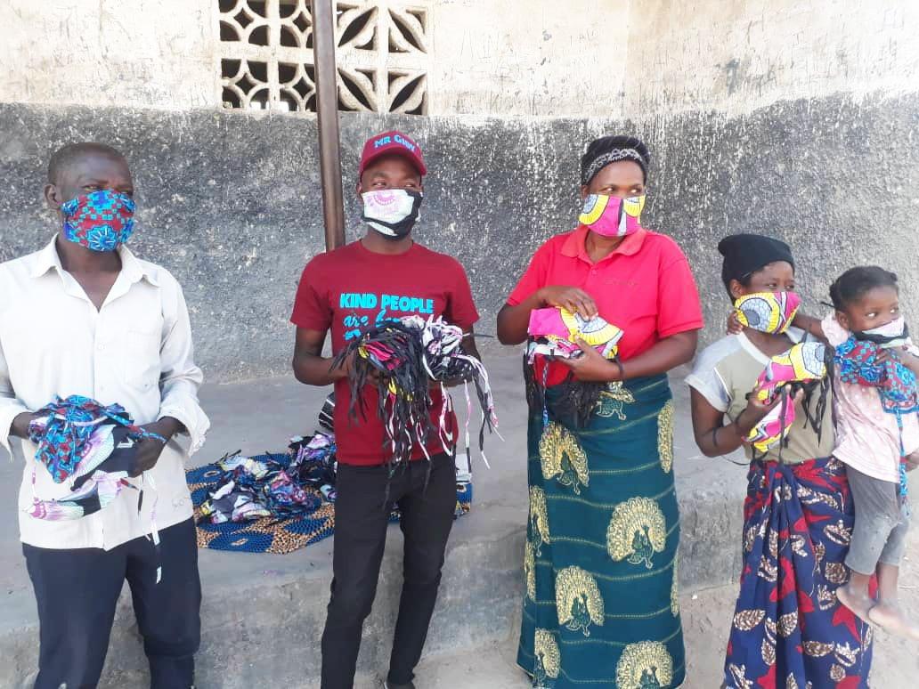 Malawian community showing masks | COVID-19 Project Update