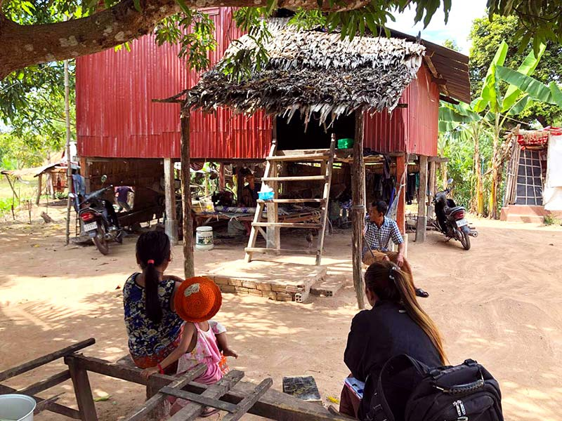 Home and famil in Cambodia