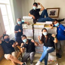 Philippines Field Staff celebrating book project delivery
