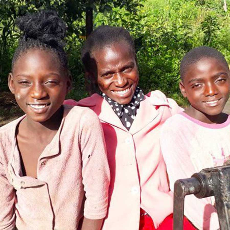 Clementina and children from Zambia