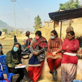 Human Development Facilitator meeting with community members in Nepal