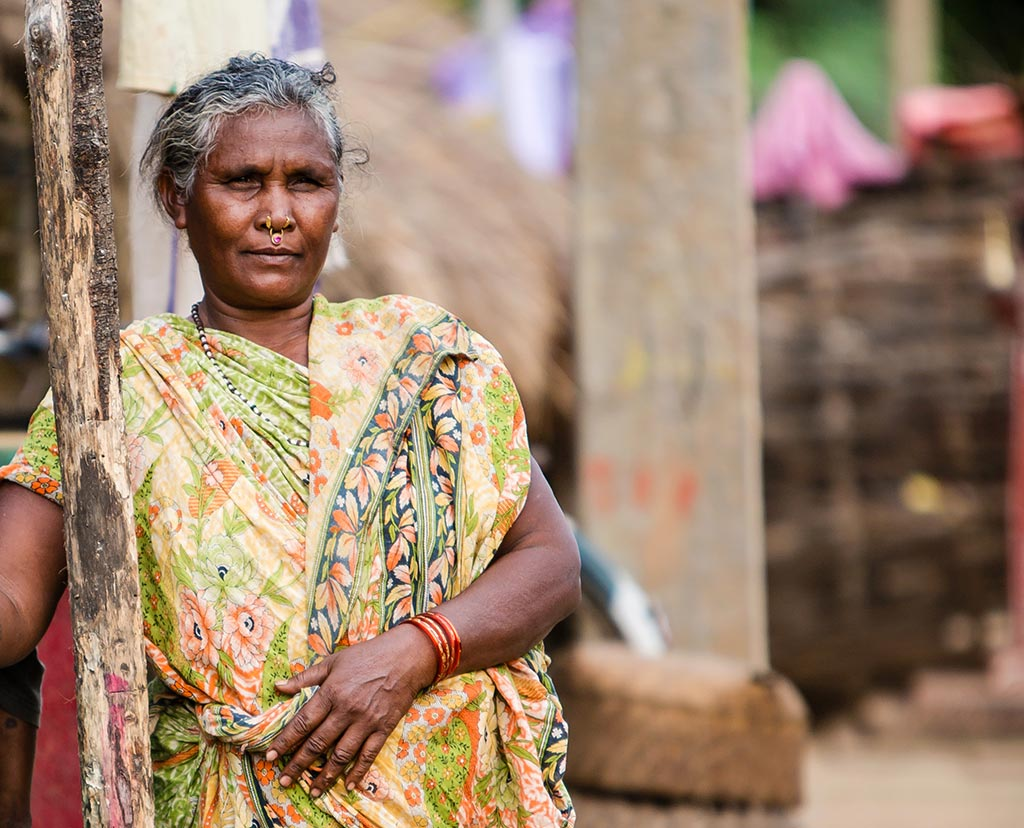 Widow receives pension in India