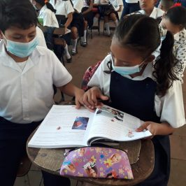 Students using their books in class - Nicaragua