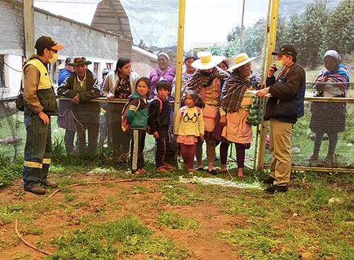 Community garden plots in Bolivia
