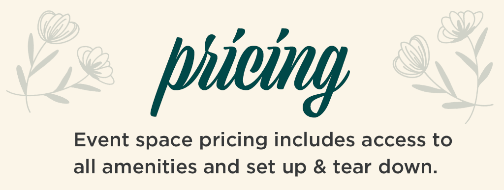 Pricing for Event Space Rental