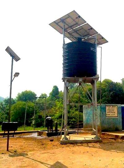 Nandabad, India Solar Water System