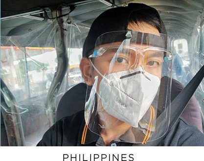 Philippines mask - COVID Response, Outreach International 2020 highlights