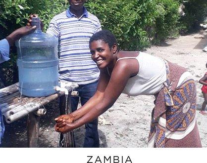Zambia handwashing - COVID Response