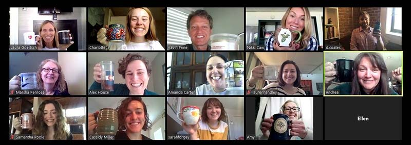 Outreach virtual meetings during COVID shutdown