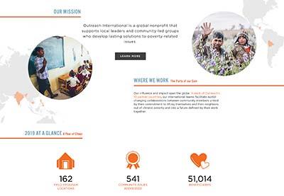 First digital annual report 2020, Outreach International 2020 highlights